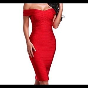 Sexy off the shoulder bandage dress ✨❤️